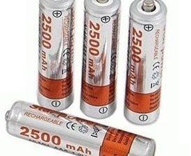 4szt x AKUMULATORKI BATERIA AAA MALE 2500mAh R3