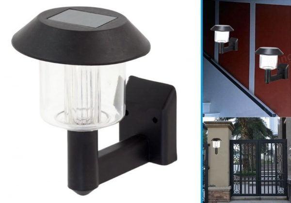 LAMPA LAMPKA SOLARNA LED OGRODOWA KINKIET ŚCIENNA