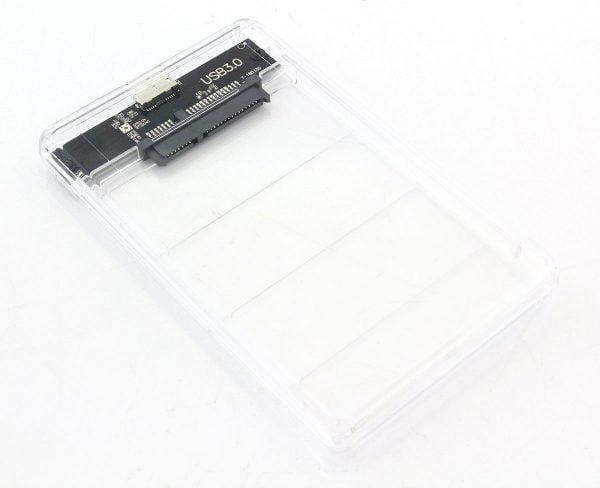OBUDOWA DYSKU 2,5 USB 3.0 SATA KIESZEŃ PRZEZROCZYS