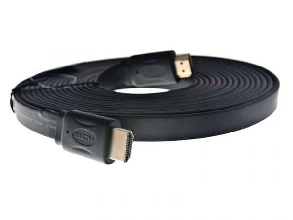 KABEL HDMI-HDMI 10m 1.4a 3D HD PŁASKI SLIM PRZEWÓD