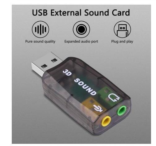 KARTA DŹWIĘKOWA MUZYCZNA USB 5.1 3D HQ