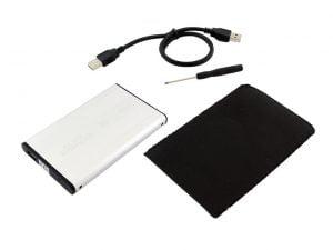 OBUDOWA DYSKU 2,5 USB SATA SSD KIESZEŃ DYSK + ETUI