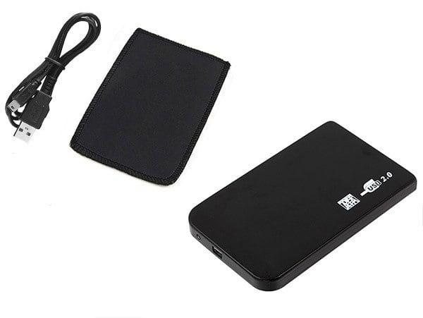OBUDOWA DYSKU KIESZEŃ 2.5 USB SATA VAIO + ETUI ALU