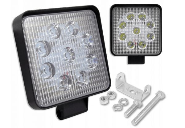 LAMPA 9 LED HALOGEN ROBOCZY 27 W 12-24V DIODOWA CE