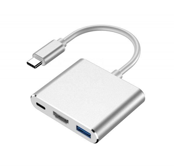 ADAPTER PRZEJŚCIÓWKA 3w1 HUB USB-C TYP-C HDMI 4K