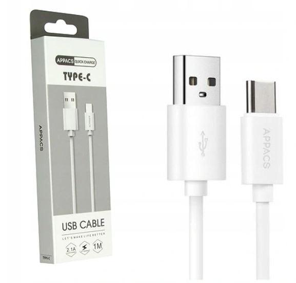 APPACS KABEL USB TYP-C 1M USB-C FIRMOWY FAST