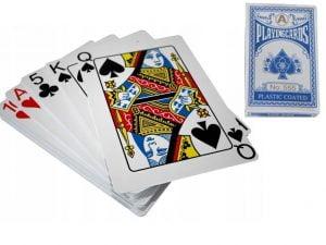 KARTY DO GRY W POKERA TALIA 54 POWLEKANA PLASTIK