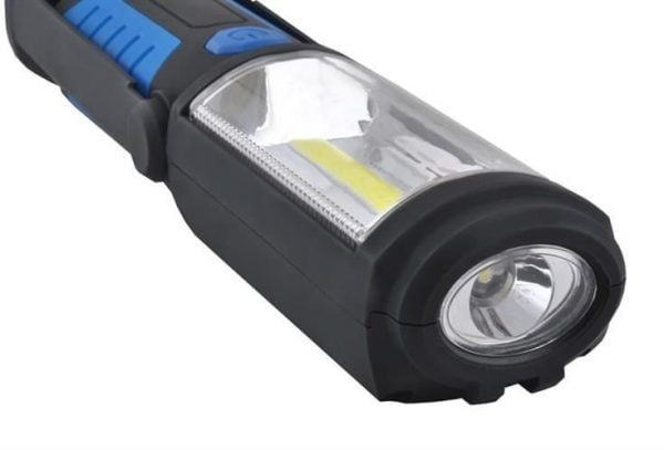 LAMPA LATARKA WARSZTATOWA COB LED MAGNES HAK 3w1