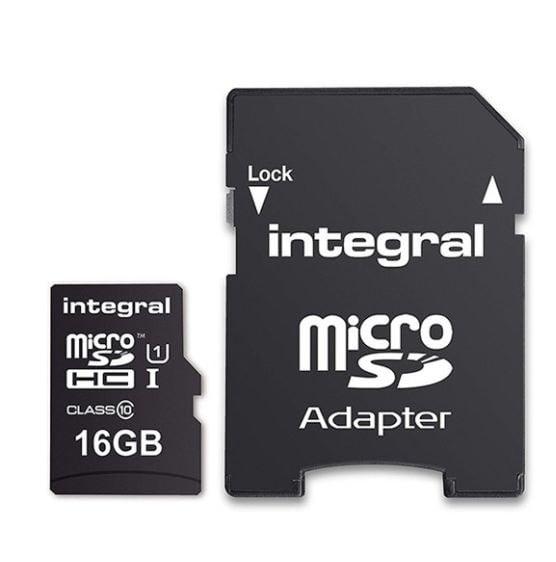 INTEGRAL KARTA PAMIĘCI 16GB microSDHC CLASS 10