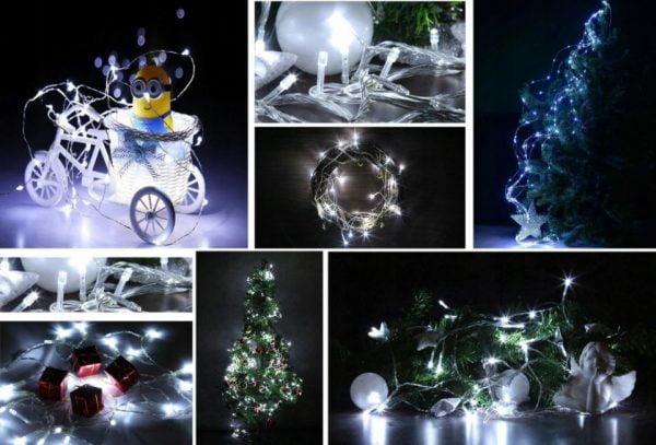 LAMPKI DRUCIKI CHOINKOWE 20 LED NA BATERIE DIODY