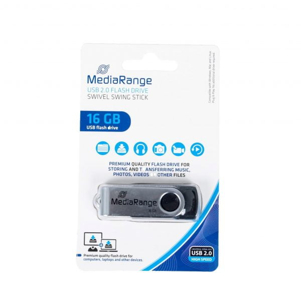 MEDIARANGE PENDRIVE USB 2.0 16GB FLASH TWISTER