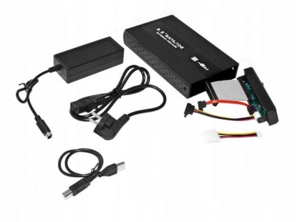 OBUDOWA DYSKU KIESZEŃ 3.5 USB SATA ALUMINIOWA