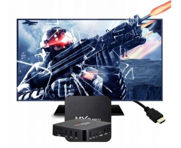 SMART TV BOX 8GB DEKODER MXQ PRO 4K ANDROID 7.1