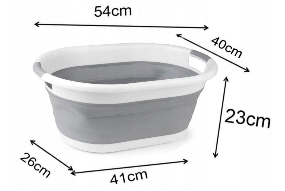 Kosz na pranie pojemnik składany silikonowy miska - PrzydaSie.pl -  przydatne dla Ciebie