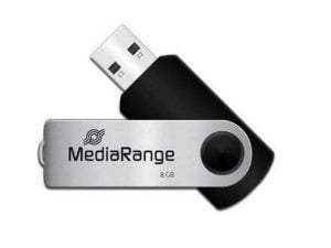 MEDIARANGE PENDRIVE USB 2.0 8GB FLASH TWISTER
