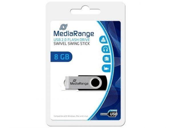 MEDIARANGE PENDRIVE USB 2.0 8GB FLASH TWISTER