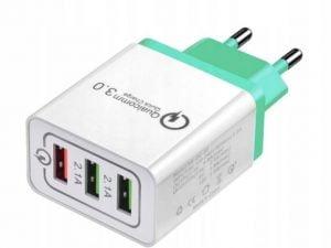 ŁADOWARKA SIECIOWA 3.0 QUICK CHARGE QC 3A 3x USB