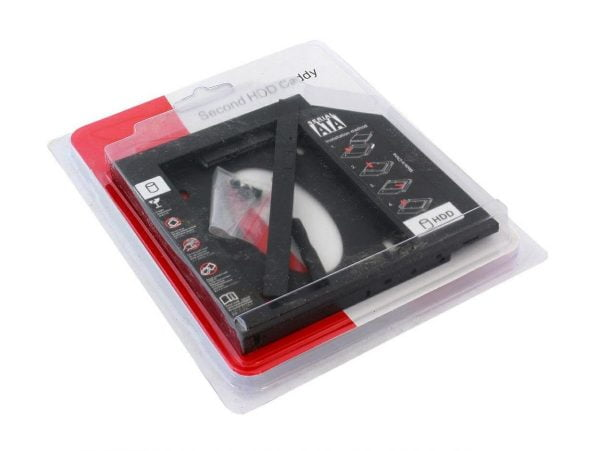 KIESZEŃ DRUGI DYSK RAMKA 2,5 HDD SSD 9,5mm MACBOOK