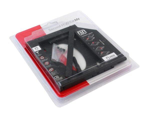 KIESZEŃ NA DRUGI DYSK RAMKA 2,5 HDD SSD SATA 12,7
