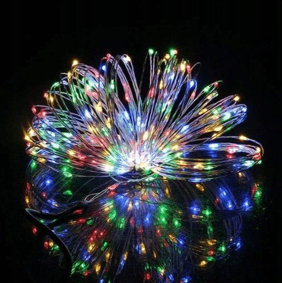 LAMPKI DRUCIKI CHOINKOWE 100 LED NA BATERIE DIODY