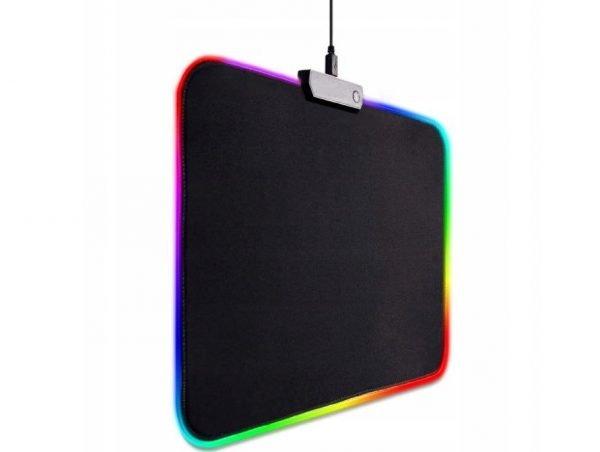 PODKŁADKA GAMINGOWA DLA GRACZY POD MYSZKĘ RGB LED