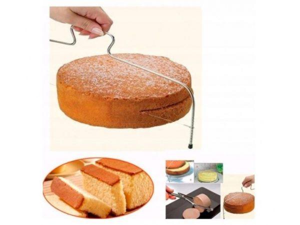 NÓŻ STRUNOWY DO CIĘCIA CIASTA TORTU BISZKOPTU 33cm