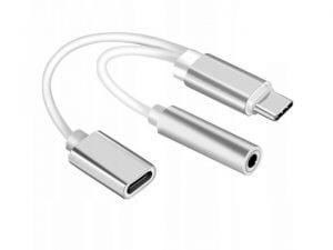 PRZEJŚCIÓWKA ADAPTER KABEL USB-C MINI JACK 3,5mm