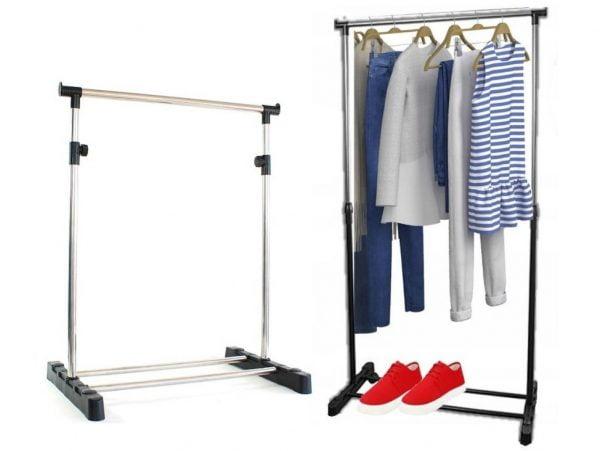 Stojak wieszak na ubrania rozsuwany garderoba