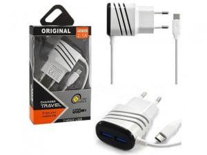 ŁADOWARKA SIECIOWA USB TYP-C 2000mAh FAST + 2x USB