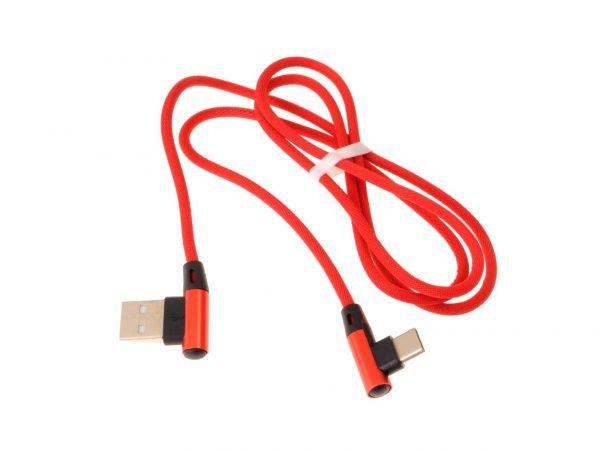KABEL TYP-C USB-C SZYBKIE ŁADOWANIE 90° KĄTOWY