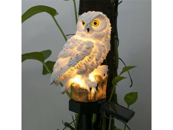 LAMPA SOLARNA OGRODOWA SOWA WODOODPORNA DUŻA LED