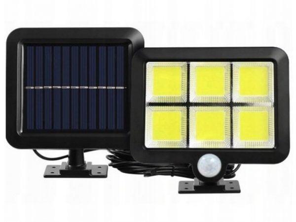 LAMPA SOLARNA Z CZUJNIKIEM RUCHU ZMIERZCHU 120 LED