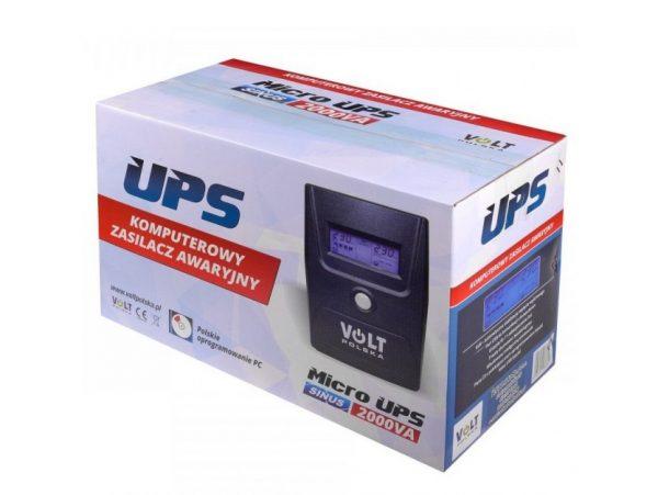 ZASILACZ AWARYJNY UPS 2000VA 1400W 2x 9Ah PROGRAM