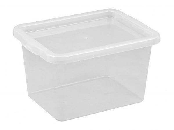 POJEMNIK Z POKRYWĄ BASIC BOX 15L DO PRZECHOWYWANIA