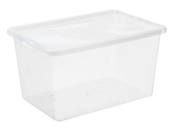POJEMNIK Z POKRYWĄ BASIC BOX 52L DO PRZECHOWYWANIA