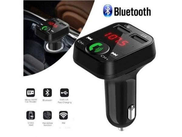 TRANSMITER BLUETOOTH FM MP3 SD 2x USB ŁADOWARKA