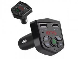 TRANSMITER FM BLUETOOTH ŁADOWARKA MP3 2XUSB SD LCD