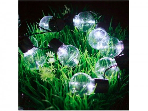 GIRLANDA OGRODOWA ŻARÓWKA LAMPA SOLARNA 10 LED