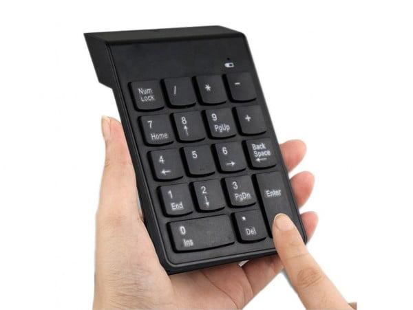 KLAWIATURA NUMERYCZNA BEZPRZEWODOWA USB 2.4GHz