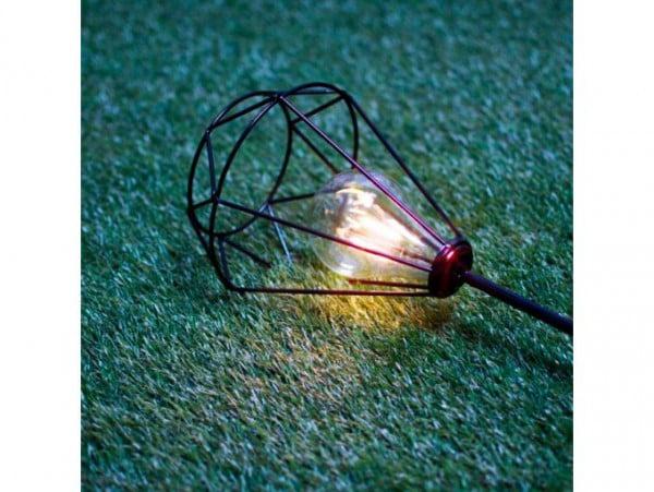 LAMPA SOLARNA LED OGRODOWA METALOWA NOWOCZESNA