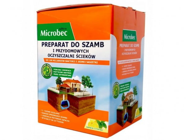 MICROBEC ULTRA BAKTERIA DO SZAMBA SASZETKI 18x 25g