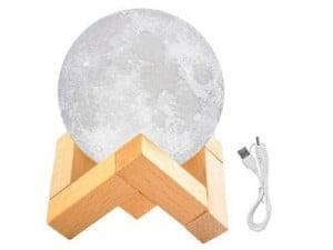 LAMPKA NOCNA ŚWIECĄCY KSIĘŻYC 3D LAPA MOON LIGHT